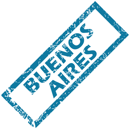 aires: Buenos Aires rubber stamp Illustration
