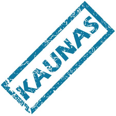 Kaunas rubber stamp Vector