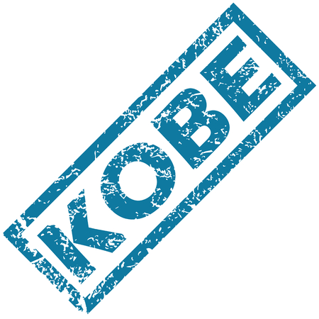 kobe: Kobe rubber stamp Illustration