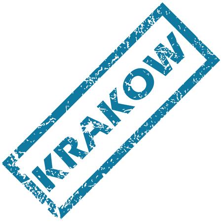 krakow: Krakow rubber stamp