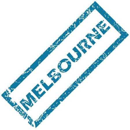 melbourne: Melbourne rubber stamp
