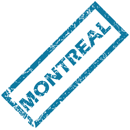 montreal: Montreal rubber stamp Illustration