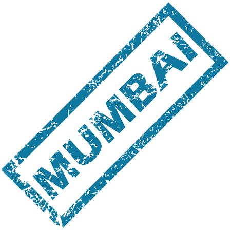 mumbai: Mumbai rubber stamp Illustration
