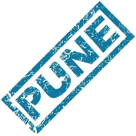 pune: Pune rubber stamp Illustration