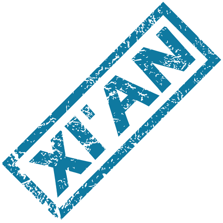 Xi an rubber stamp Vector