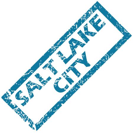 salt lake city: Salt Lake City rubber stamp Illustration