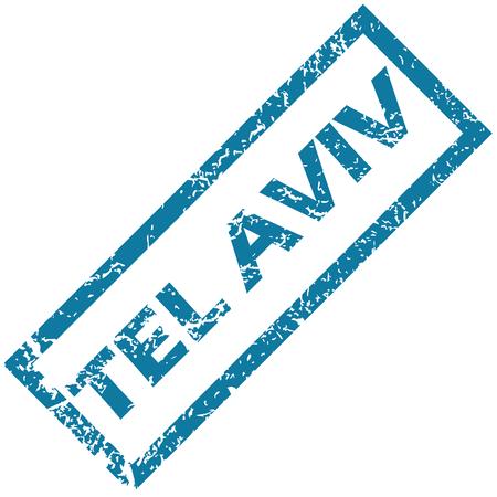 aviv: Tel Aviv rubber stamp