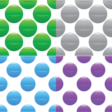 Sphere pattern set Vector
