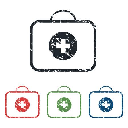 First aid grunge icon set Ilustração