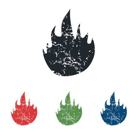 conflagration: Fire grunge icon set