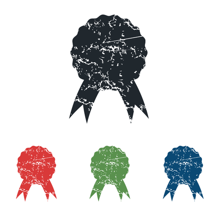 achievement clip art: Certificate seal grunge icon set