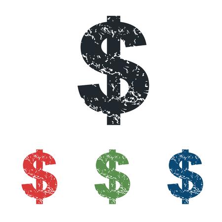 signo pesos: Dólar grunge icono conjunto