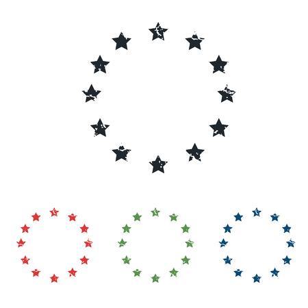 eu: EU symbol grunge icon set