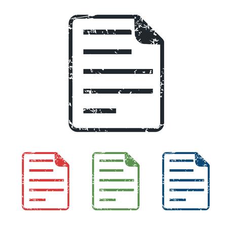 article writing: Document grunge icon set