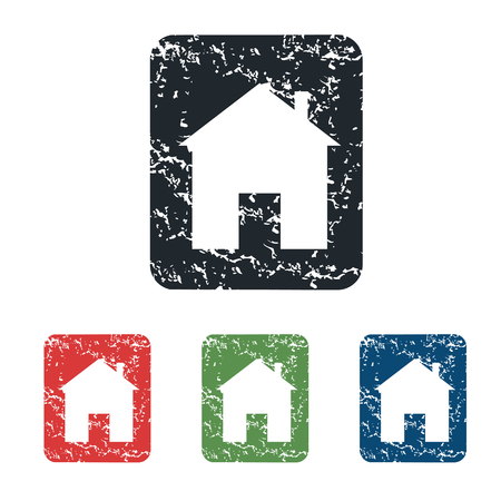 housetop: House sign grunge icon set