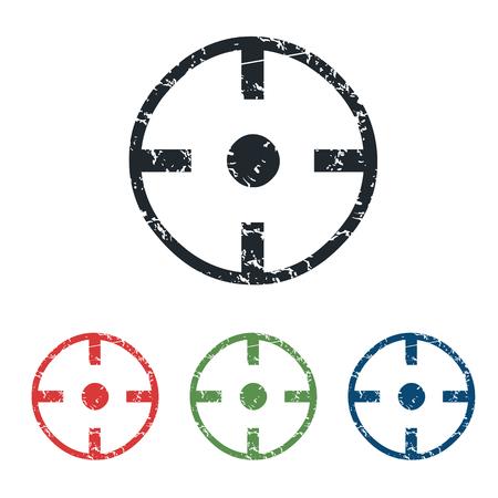 intention: Target grunge icon set