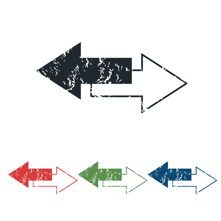 opposite arrows: Opposite arrows grunge icon set