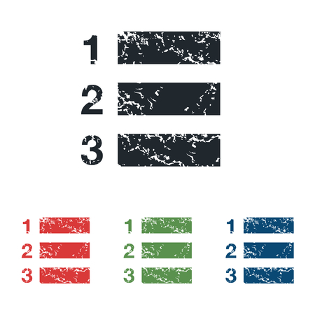 enumerated: Numbered list grunge icon set
