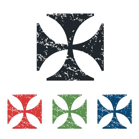 maltese: Maltese cross grunge icon set Illustration