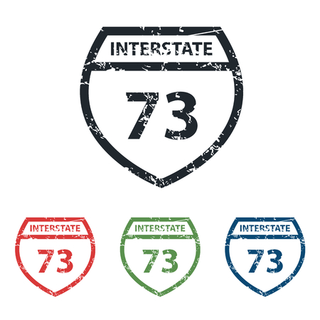 interstate: Interstate 73 grunge icon set