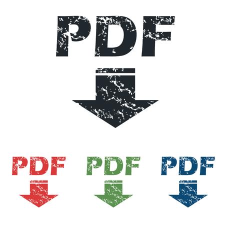 tearing down: Pdf download grunge icon set