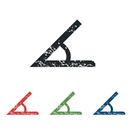 derivation: Angle grunge icon set Illustration