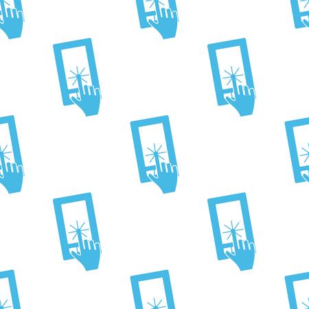 Flat touching screen pattern Vector