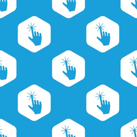 hand cursor: Hand cursor hexagon pattern