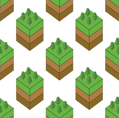 grass plot: Piece of wood pattern