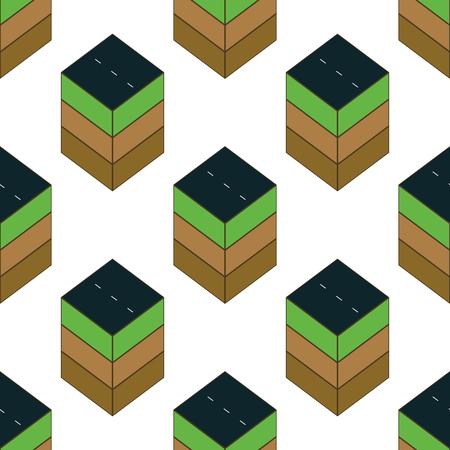 grass plot: Piece of road pattern