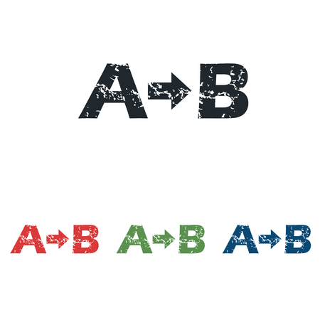 derivation: A-B grunge icon set Illustration