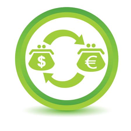 volumetric: Icono de cambio volum�trico D�lar-Euro Vectores
