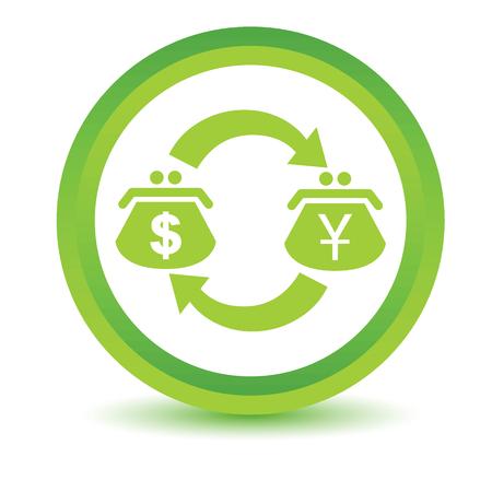 volumetric: Dollar-Yen exchange volumetric icon Illustration