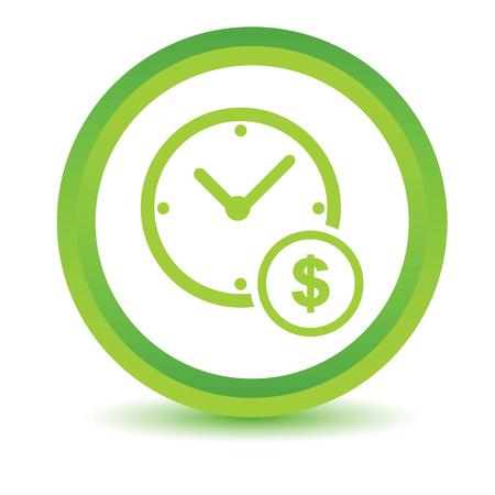 volumetric: El tiempo es dinero icono volum�trica