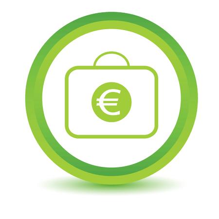 volumetric: La bolsa con el icono de euros volum�trica