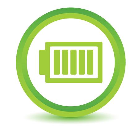 volumetric: Charged battery volumetric icon Illustration