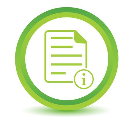 volumetric: Informaci�n icono de documento volum�trica Vectores