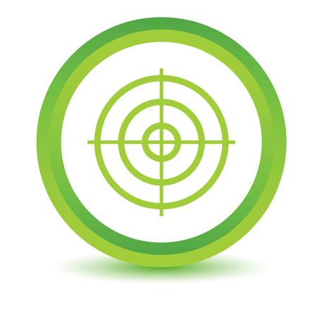 radar gun: Aim volumetric icon Illustration