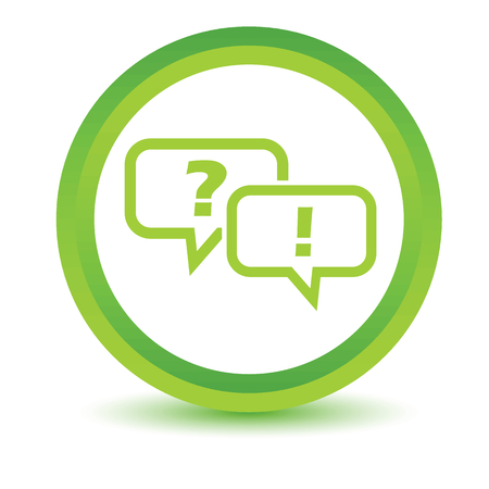 Question answer volumetric icon