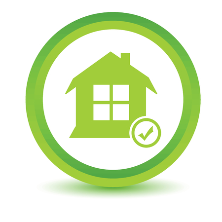 select: Select house volumetric icon Illustration