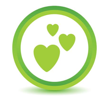 volumetric: Three hearts volumetric icon Illustration