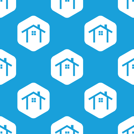 housetop: Cottage hexagon pattern Illustration