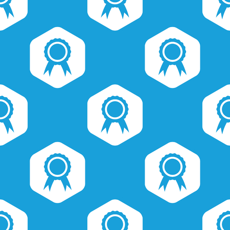 achievement clip art: Certificate seal hexagon pattern