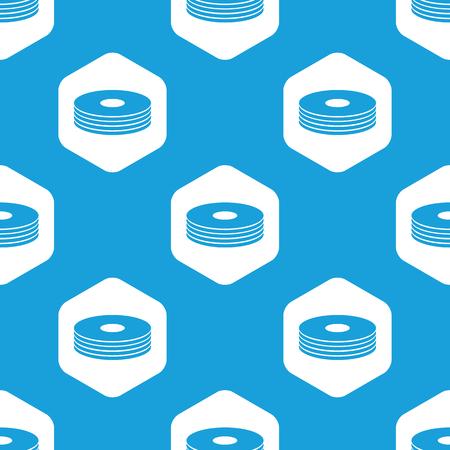 cd rom: Disc pile hexagon pattern