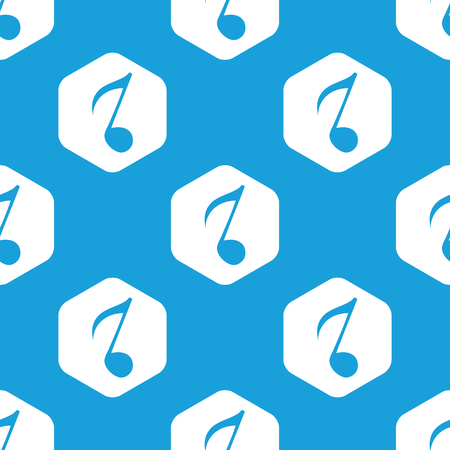 eighth: Eighth note hexagon pattern