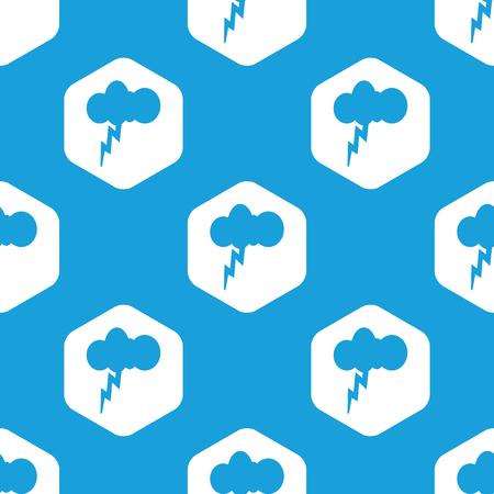thunderstorm: Thunderstorm hexagon pattern Illustration