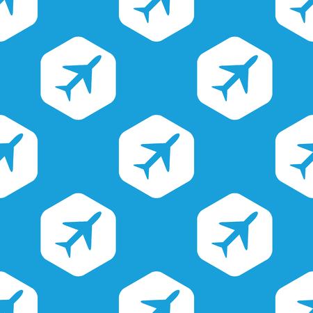 Plane hexagon pattern Vector