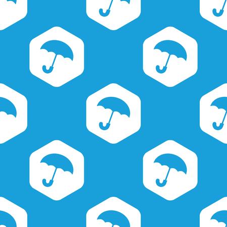 cloudburst: Umbrella hexagon pattern