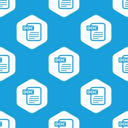 ms: Doc file hexagon pattern Illustration