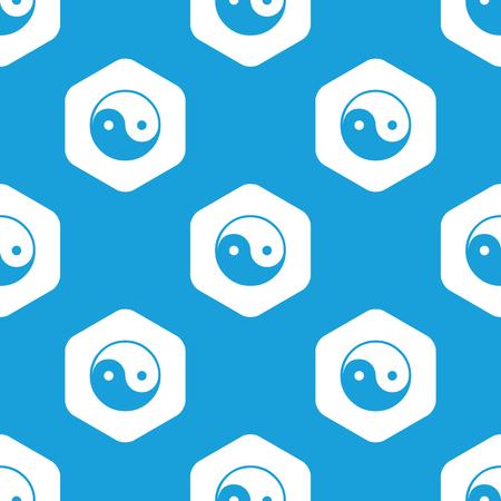 Ying yang hexagon pattern